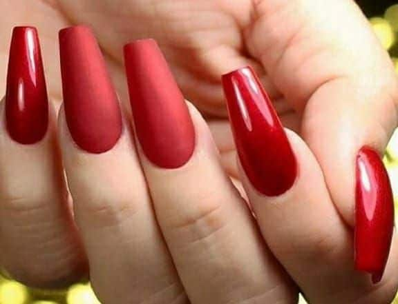 red matte nails | Polished by Crystal